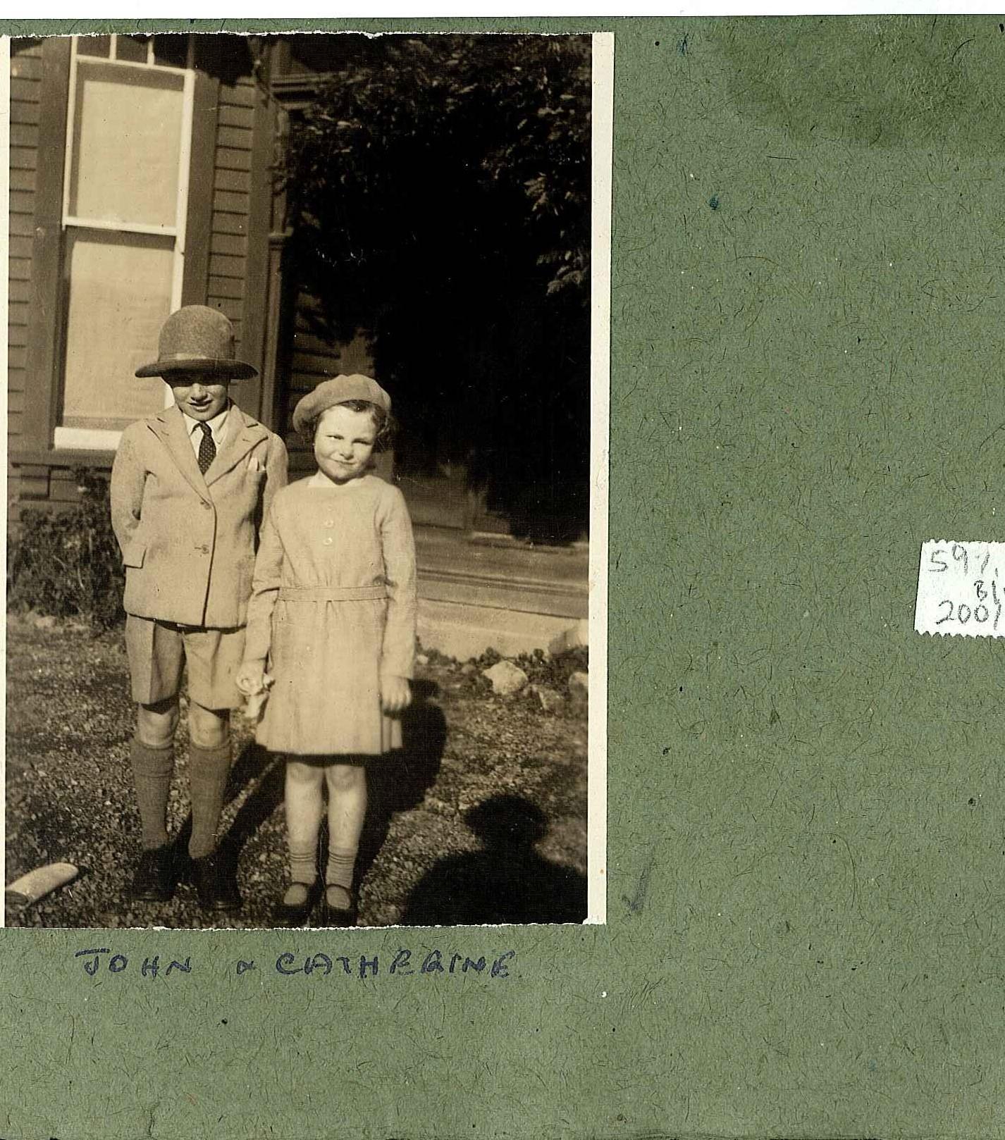 John (Jack) and his sister Kate